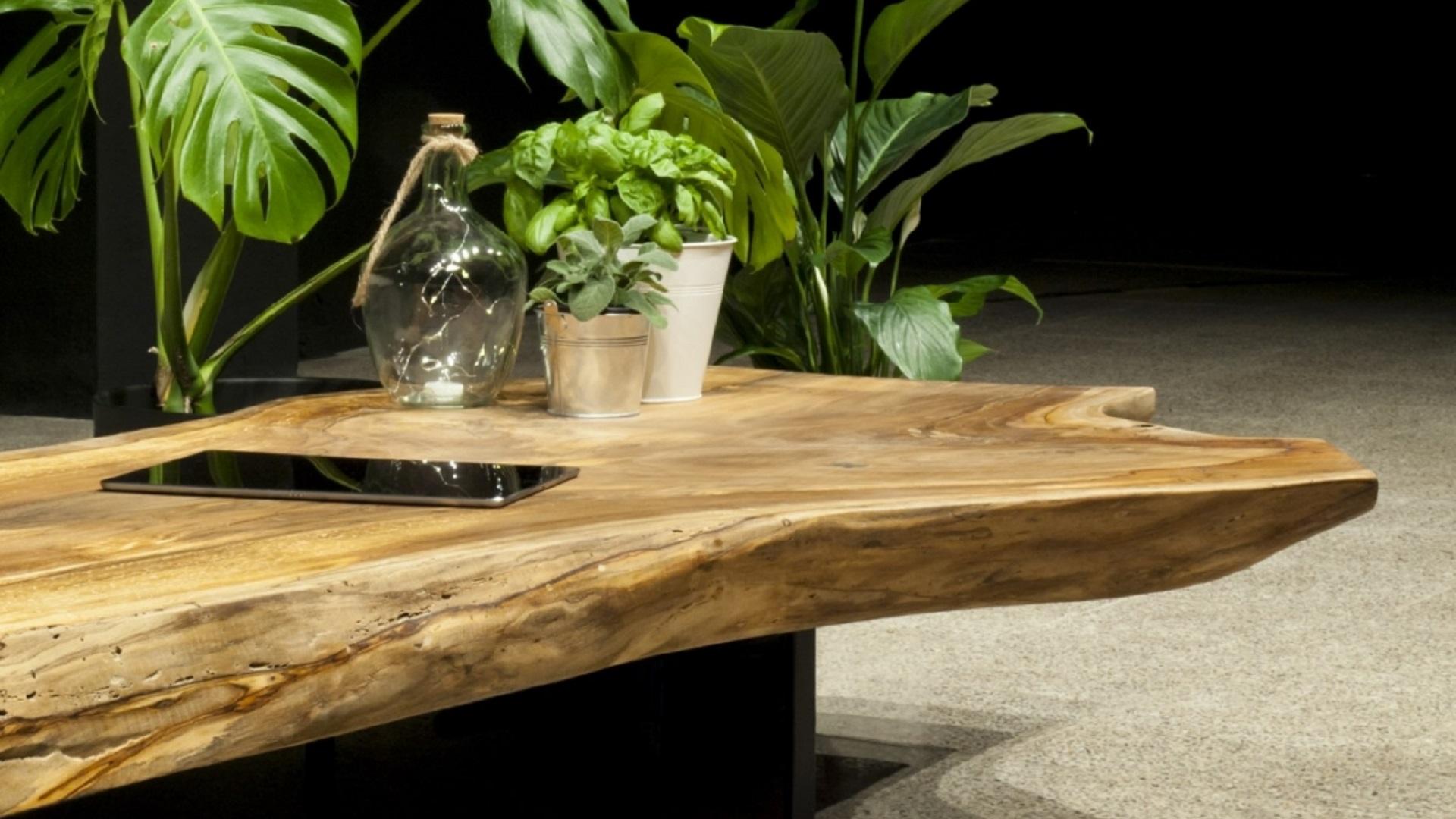Elia Tables, madera natural