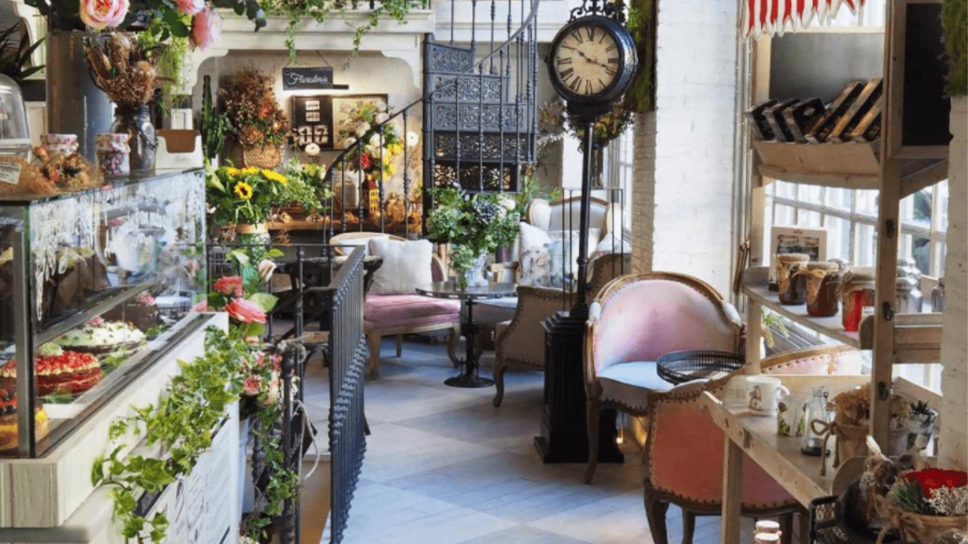 Salon des Fleurs, el paraíso floral del té