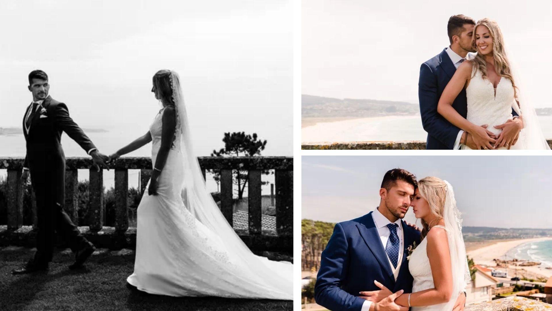 collage fotos de la boda de Cristian Toro y Susana Salmerón