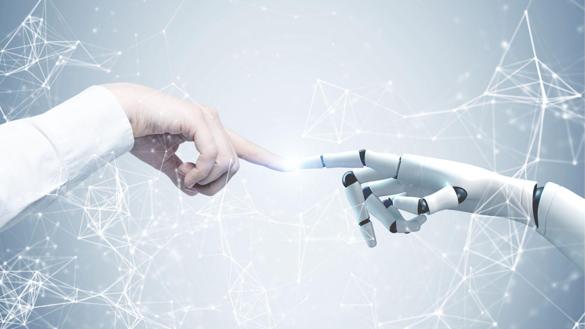 robot y humano